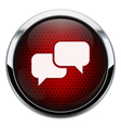 Red honeycomb talk icon vector image
