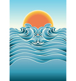 Seascape abstract background with sunlight color vector image