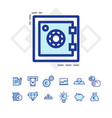 set of business and finance icons vector image