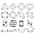 set of empty emblems ribbons design elements for vector image