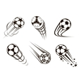 Soccer and football emblems vector image