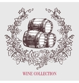 Wine and winemaking vintage vector image