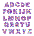 alphabet violet vector image vector image