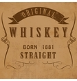 Vintage alcohol label Fully editable EPS10 vector image