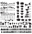 Set of cutlery icons vector image vector image