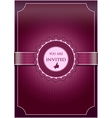 Purple abstract invitation vector image vector image