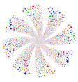 geometric figures fireworks swirl flower vector image