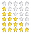 Rating stars vector image vector image
