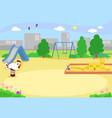 empty urban playground vector image vector image