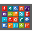 New app icons set in flat vector image