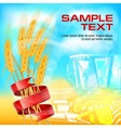 Ears of wheat with ribbon vector image vector image