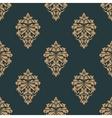 Retro ochre seamless pattern vector image vector image