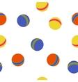 Kids balls colorful pattern vector image