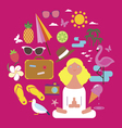 Girl on vacations design vector image