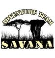 savana vector image