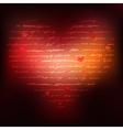 Heart of Handwriting text vector image