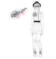 young beautiful girl fashion vector image