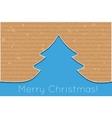 cardboard christmas tree vector image