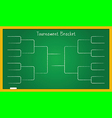 bracketology vector image