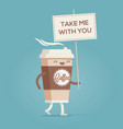 cup of coffee coffee to go vector image