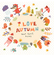 cute autumn background vector image