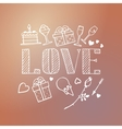 decorative love card template vector image
