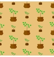 Flower Pot Seamless Pattern vector image