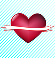 Heart with tape vector image