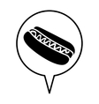hot dog pictogram icon image vector image