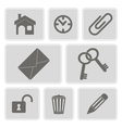 icons with symbols of work in the office vector image