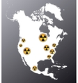 north america nuclear vector image