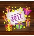 Postcard Happy New Year vector image