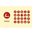 Set of Dubai simple icons vector image