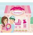 Shopping for little girl vector image