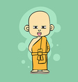 Thai Buddhist monk cartoon style vector image