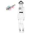 young beautiful girl fashion vector image