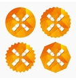 Teamwork sign icon Helping Hands vector image