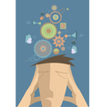Thinking man concept vector image