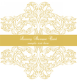 Luxury Baroque Ornamented card vector image