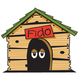 Dogs house vector image