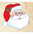 Classic Santa Claus Head Old Paper Texture vector image