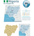 Nigeria maps with markers vector image vector image