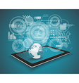 Touch Pad Personal Computer technology business vector image