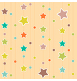 Cute pattern with stars and circles vector image