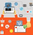 Digital media industry vector image