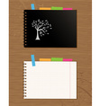 notebook cover and page vector image vector image