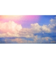 Sunrise Sky Polygonal Background vector image vector image
