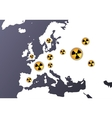 nuclear radiation europe vector image vector image