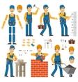 worker constructor vector image