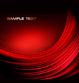 red neon abstract background vector image